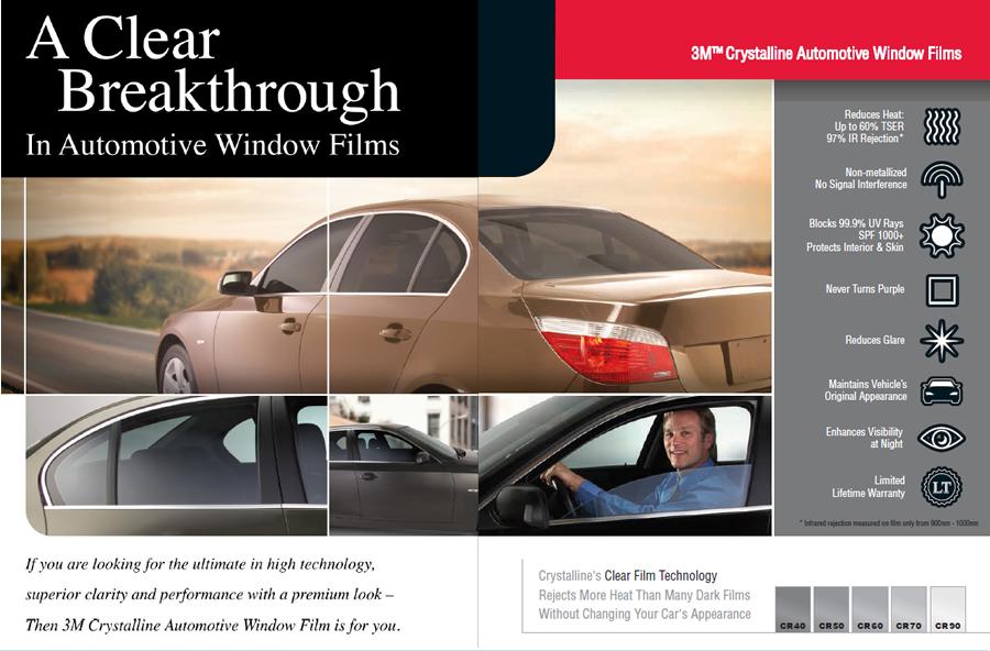 3M Crystalline Automotive Window Film Tint - Auto SuperShield